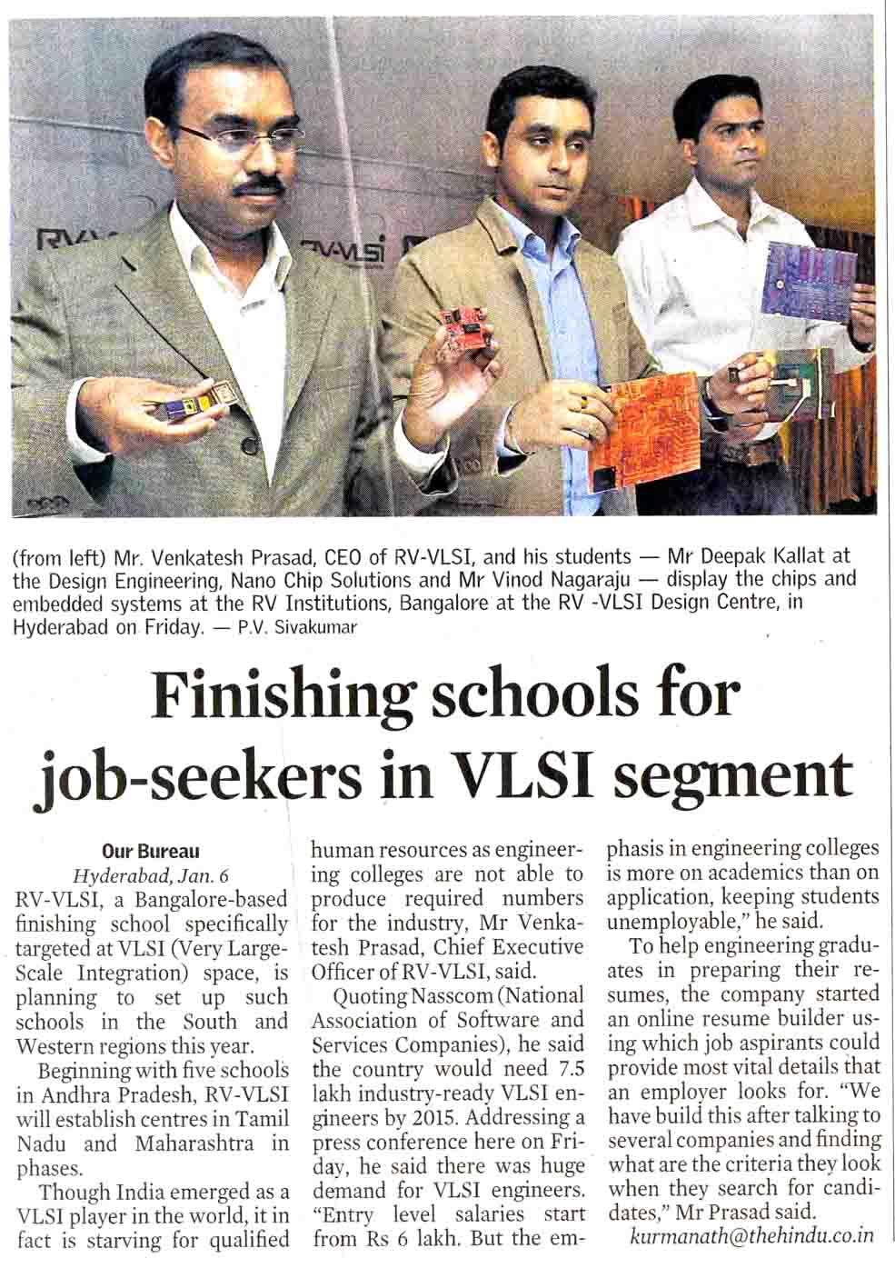 RV-VLSI -Resume Builder -News -BusinessLine