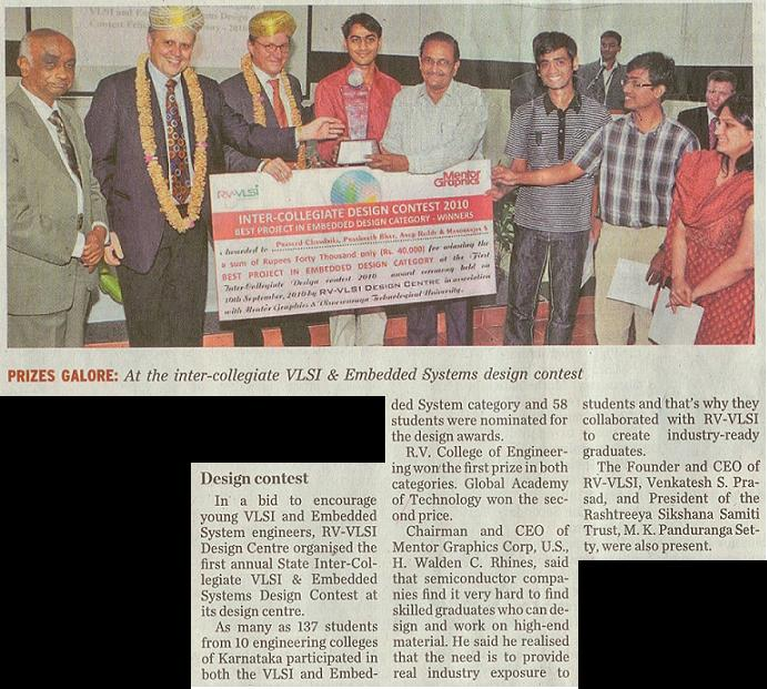 Winners of BE projects in VLSI and Embedded Systems